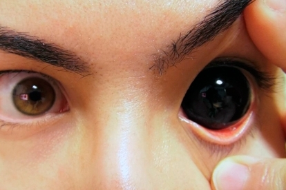 Caracterización lentillas - Ojos totalmente negros