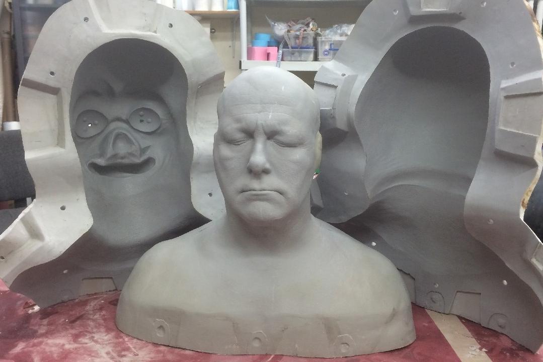 El proceso de fabricación de un molde positivo del rostro