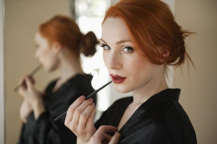 Maquillaje de labios en pelirrojas