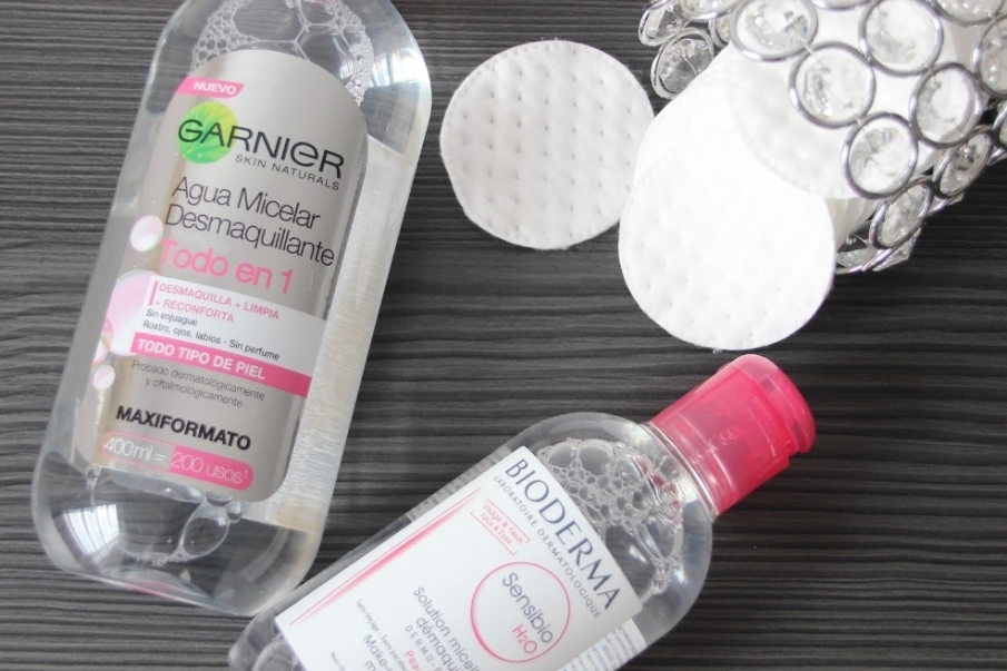 Tipos de limpiadores faciales - Agua micelar