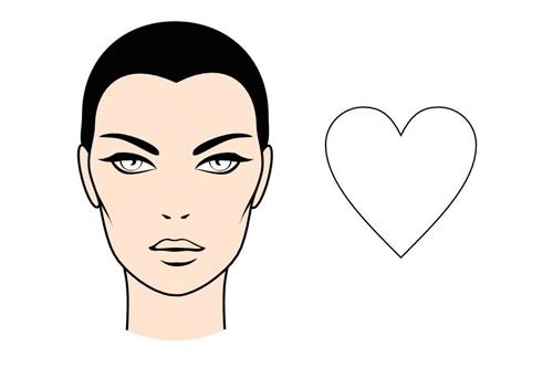Tipos de rostro femenino - Corazón o triangulo invertido