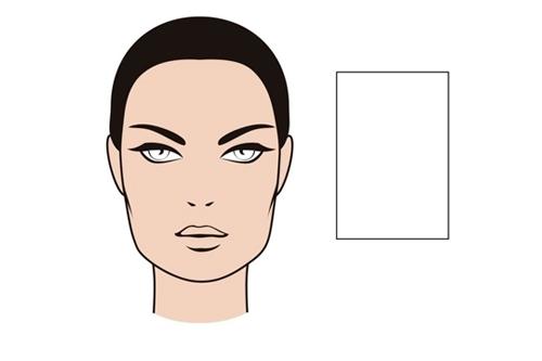 Tipos de rostro femenino - Cuadrado